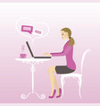 office worker or business womancommunication via vector image vector image