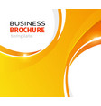 orange abstract business background vector image