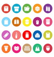 Package flat icons on white background vector image