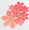 paper flower origami26 vector image vector image
