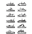 Passenger ships and yachts vector image vector image