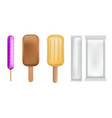 popsicle icon set realistic style vector image