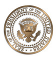 presidential seal - gold against white ai vector image vector image