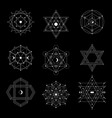 sacred geometry set vector image