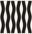 Seamless black and white wavy lines pattern