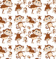 Seamless monkey vector image vector image
