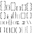 set brackets vector image