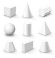set of basic 3d shapes vector image vector image