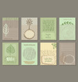 set of eco nature labels or business card vector image