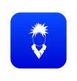 singer icon digital blue vector image