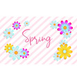 spring card with beautiful flowers vector image vector image
