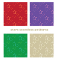 stars seamless patterns vector image vector image