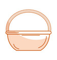 straw basket isolated icon vector image vector image