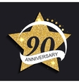 Template Logo 90 Anniversary vector image vector image