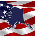 united states alaska vector image vector image