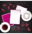 Valentine Day Scene Creator Mock up vector image vector image