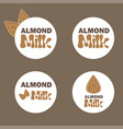 with almond milk lactose free vector image vector image