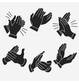 Applause clapping hands vector image