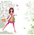 Woman shopping3 vector image
