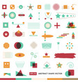 abstract shape icon set vector image