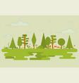 flat nature set vector image