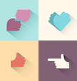 Hand gestures logo setsymbol of friendship the vector image