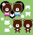 teddy bear couple vector image