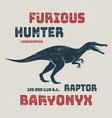 Baryonyx t-shirt design print typography label vector image