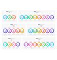 timeline infographic presentation report web vector image