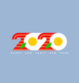 2020 look like eggs with bacon for cook food theme vector image vector image
