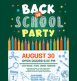 back to school poster design template school vector image