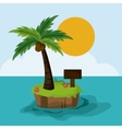 Beach design Summer icon Colorful vector image vector image