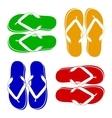 Beach Sandals vector image vector image