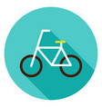 bicycle circle icon vector image vector image