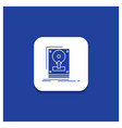 blue round button for install drive hdd save vector image