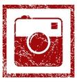 Camera grunge icon vector image