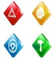car service glass transparent color icon set vector image