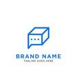 chat box logo design inspiration vector image vector image