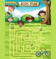 children fun game template vector image