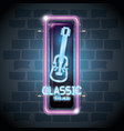 classic music bar neon label vector image vector image
