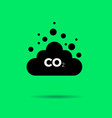 co2 emissions icon cloud flat vector image vector image