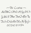 collection of english abc in vintage style vector image vector image