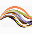 colorful wave abstract background vector image