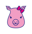 cute pig female wild animal vector image vector image