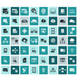 Data analytic and social network icons set vector image vector image