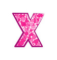 english pink letter x on a white background vector image