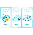 eps set creative freelance work management vector image