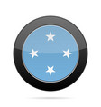 flag of micronesia shiny black round button vector image vector image