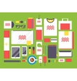 flat style mockup design template vector image