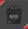 Gift box - black friday sale concept